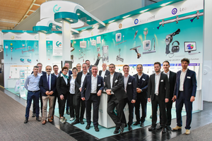 The team of CS Instruments at the ComVac / Hannover Messe 2019