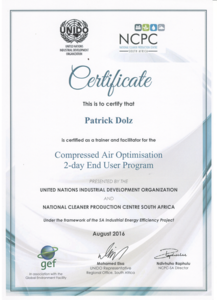UNIDO certified Partner for Compressed Air Optimization - CS Instruments