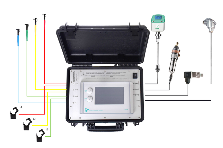 Analysing compressed air costs made easy - DS500 PM from CS Instruments