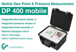 Primo misuratore di dew point portatile - DP 400 mobile