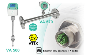 Current flow meters from CS Instruments now available with integrated Ethernet port (TCP / Modbus)