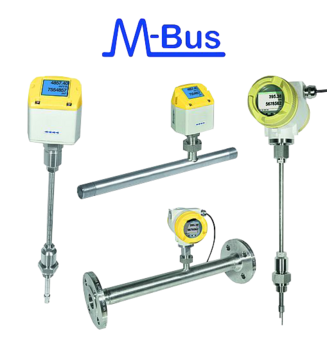 M-Bus flow meters for compressed air, natural and industrial gas