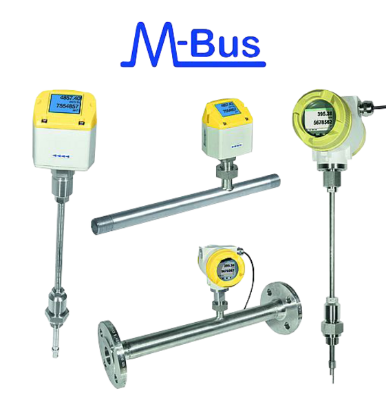 M-Bus gas meters for compressed air, natural and industrial gas