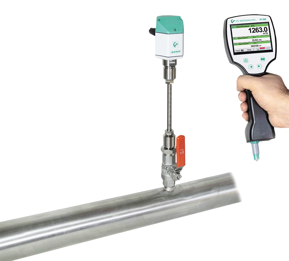 PI 500 - Portable chart recorder for flow measurement
