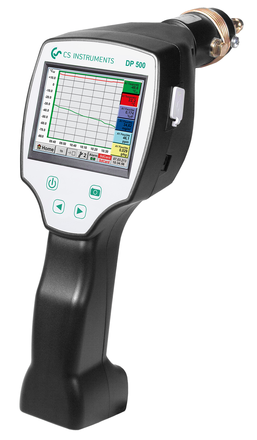 Portable Dew Point Meter DP 500 with integrated data logger